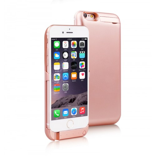 iPhone 6 6s Plus 5 5 - Rose Gold 7000mAh Power Bank Hard Phone Stand  Protective Cover Case