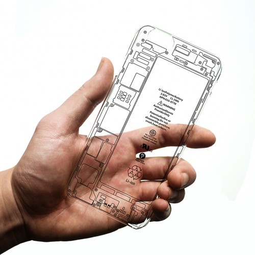 Iphone 6 6s Plus 5 5 Internal Parts Pattern Matte Slim Clear Hard