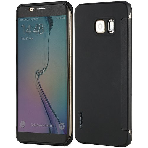 on sale 52ce1 32b45 Samsung Galaxy S6 Edge Plus - Rock Dr. V Series - Full Screen Window Both  Side Clear TPU Soft Protective Cover and Case