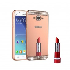 Samsung Galaxy Grand Prime - Shiny Bling Bling Mirror 2 in 1 Aluminium Bumper Protective Phone