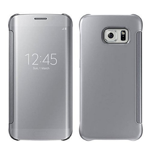 quality design 29402 a9690 Samsung Galaxy S6 Edge - Luxury Elegant Glitter Smart Flip Ultra Slim View  Electroplated Mirror Hard Clear Transparent Phone Protective Cover Case -  ...