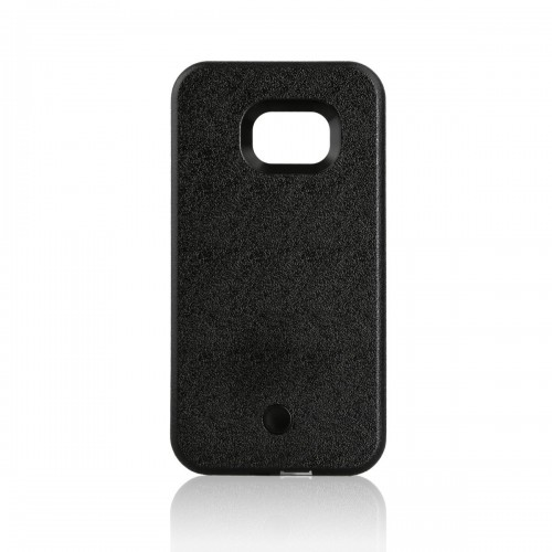 quality design b993f b7e43 Samsung Galaxy S6 Edge Plus - LED Light illuminated Dimmable Selfie Flash  Matte Hard Phone Cover Case - Black