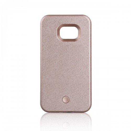 the best attitude dc1da 6103a Samsung Galaxy S6 - LED Light illuminated Dimmable Selfie Flash Matte Hard  Phone Cover Case - Rose Gold
