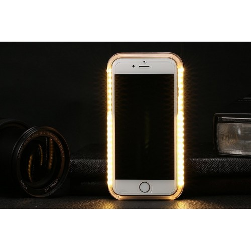 quality design f9735 68b1f Samsung Galaxy S6 Edge Plus - LED Light illuminated Dimmable Selfie Flash  Matte Hard Phone Cover Case - Black