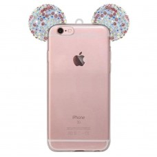 Samsung Galaxy Note 3 - Mickey 3D Bling Bling Crystal Ear with Removable Strap TPU Soft