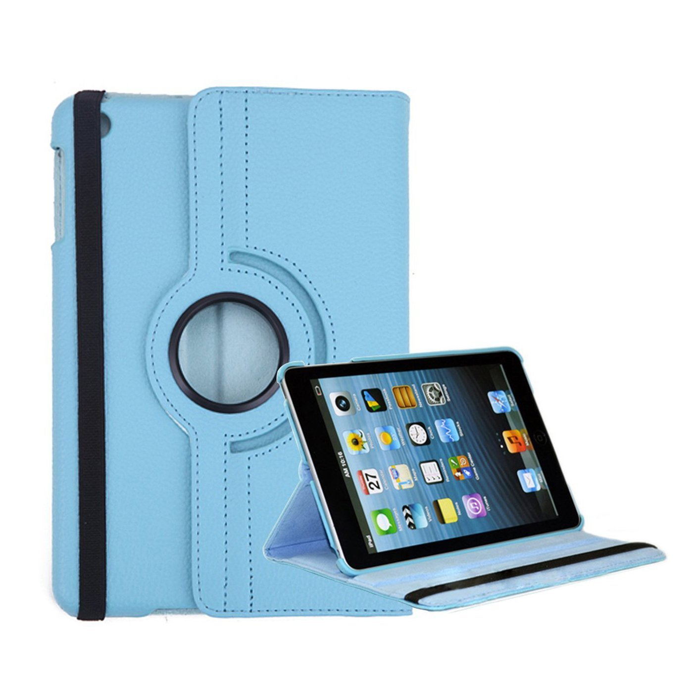 Ipad Pro 129 Inch Blue 360 Rotating Stand Pu Leather Smart Degree Case For 2 3 4 Protective Cover Flip Cases With Auto Sleep Wake Feature