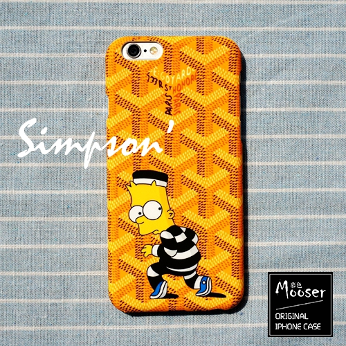 check out f99f5 de5f8 iPhone 6 6s 4.7 - Mooser Goyard x Simpson Rubber Coating Hard Phone  Protective Cover Case